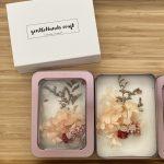 Inside peach hydrangea pocket flower garden