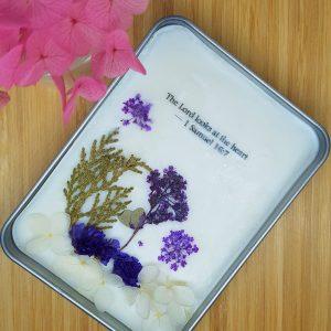 Purple pocket flower garden
